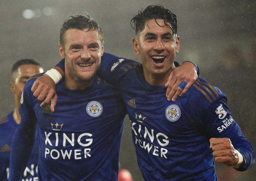 Ayoze Perez and Jamie Vardy hit Southampton 9-0